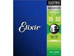 ELIXIR ELECTRIC OPTIWEB /  LIGHT-HEAVY .010-.052