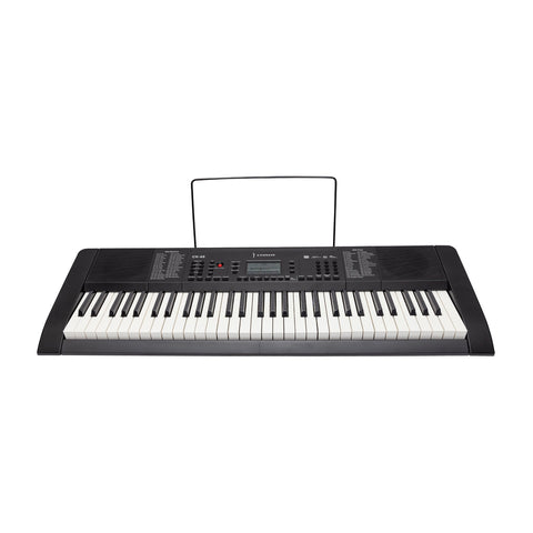 Crown 61 Key Multi-Function Electronic Portable Keyboard with MIDI (Black) - Musiclandshop