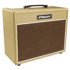 STRAUSS 15 WATT DUAL CHANNEL VALVE AMPLIFIER (TWEED) - Musiclandshop