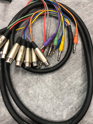 3 Meter XLR to Stereo Jack MULTICORE - Musiclandshop