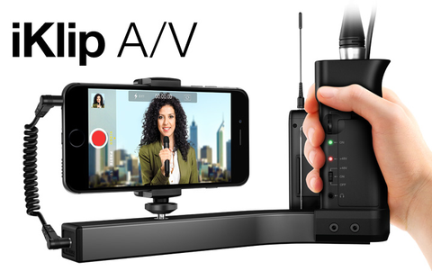 iKlip A/V smartphone broadcast mount for pro-quality audio/video
