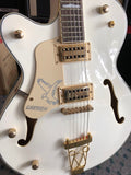 REAL FAKE GRETSCH WHITE FALCON LEFT HAND - Musiclandshop