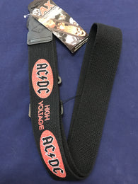 ACDC RED ORICAL HIGH VOLTAGE GUITAR STRAP