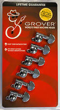 Guitar Tuners Tuning Pegs Keys Grover 205BC6 Mini Rotomatics 6 in line Black