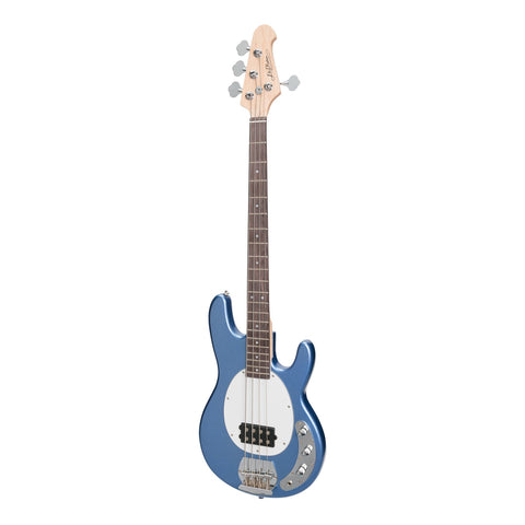J&D Luthiers EM3 MM-Style 4-String Electric Bass Guitar (Metallic Blue) - Musiclandshop