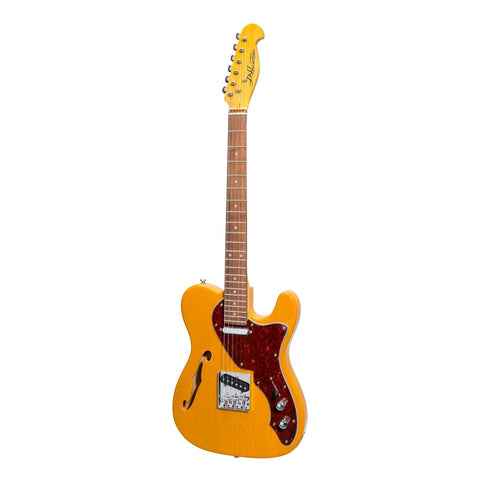 J&D Luthiers Thinline TL Style Electric Guitar (Butterscotch) - Musiclandshop