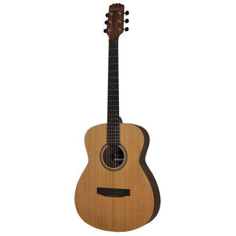 Martinez '25 Series' Spruce Top Acoustic-Electric Small Body Guitar with Gig Bag (Natural Satin) - Musiclandshop