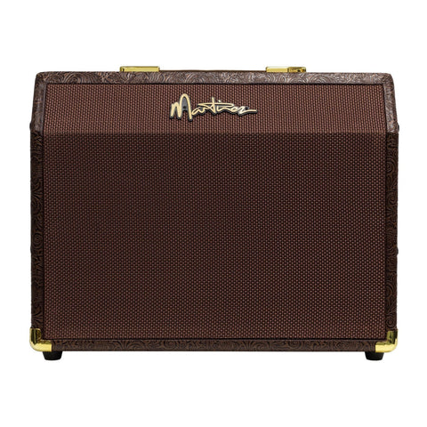 Martinez 25 Watt Retro-Style Acoustic Guitar Amplifier with Reverb (Paisley Brown) - Musiclandshop