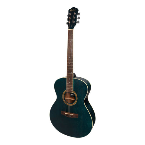 Martinez '41 Series' Folk Size Acoustic Guitar (Blue) - Musiclandshop