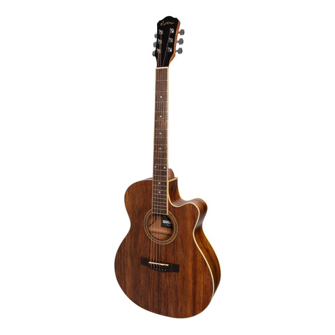 Martinez '41 Series' Folk Size Cutaway Acoustic-Electric Guitar (Rosewood) - Musiclandshop