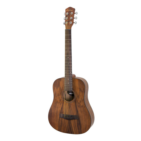 Martinez Daowood Acoustic-Electric Babe Travel Guitar (Natural Satin)