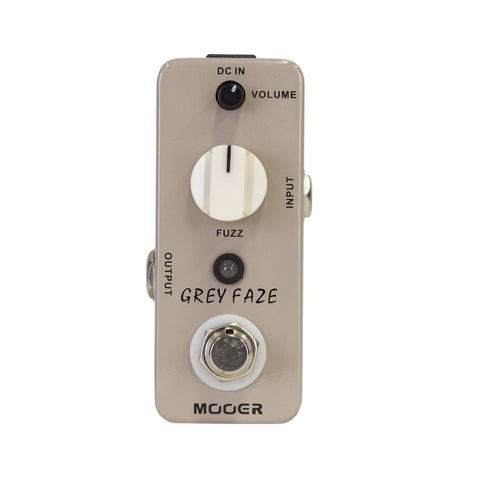 Mooer Grey Faze Vintage Fuzz Micro Guitar Effects Pedal - Musiclandshop