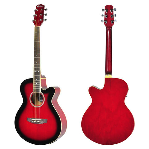 Small-Body Acoustic-Electric Cutaway Martinez Red - Musiclandshop