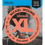 D'ADDARIO EXL110W NICKEL WOUND ELECTRIC GUITAR STRINGS - REGULAR LIGHT - WOUND 3RD - 10-46 - Musiclandshop