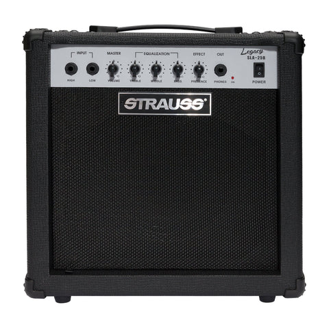 Strauss Legacy 25 Watt Solid State Bass Amplifier Combo (Black) - Musiclandshop