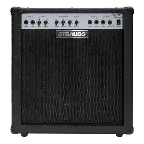 Strauss Legacy 50 Watt Solid State Bass Amplifier Combo (Black) - Musiclandshop