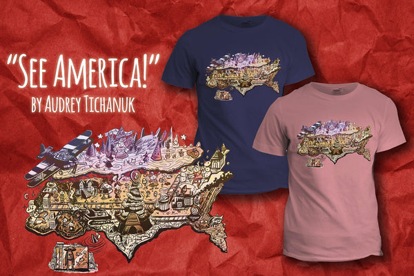 """See America!"" T-Shirt"