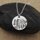 Mountain Outdoors - Pendant Necklace