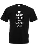 Keep Calm and Camp On - Men's Tee