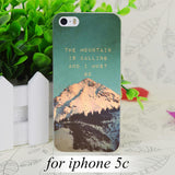 The Mountain is Calling Transparent Hard Thin Case Skin Cover For Apple IPhone 4 4S 4G 5 5G 5S SE 5C 6 6S Plus