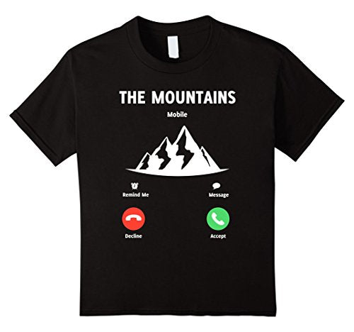 The Mountains Are Calling - Cell Phone Graphic Tee