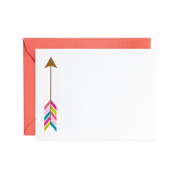 happy arrow flat notecards