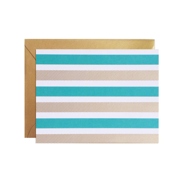 gold stripey stripe notecards