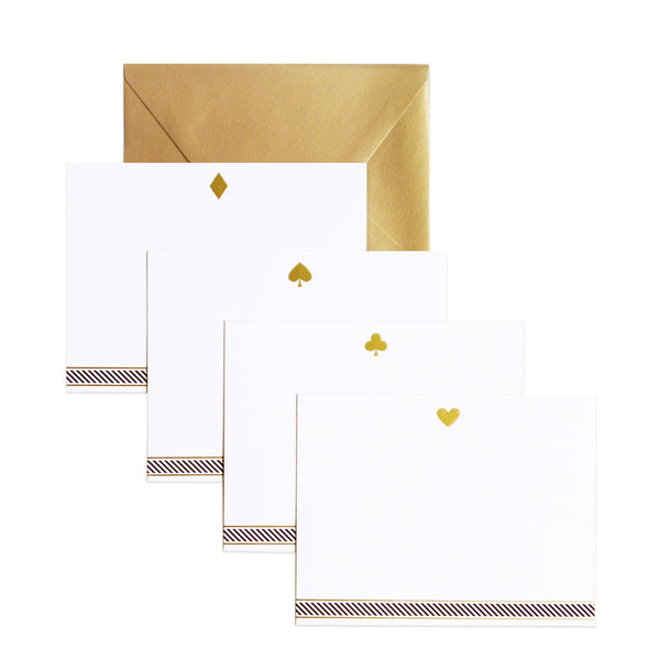 well suited flat assorted notecards