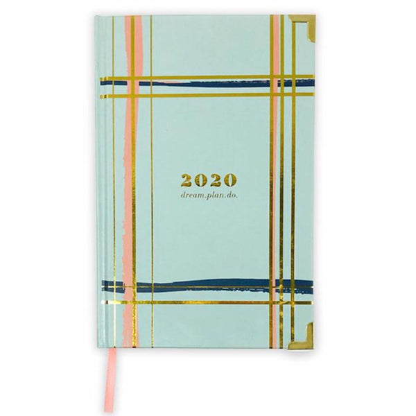 2020 PAINTED PLAID planner