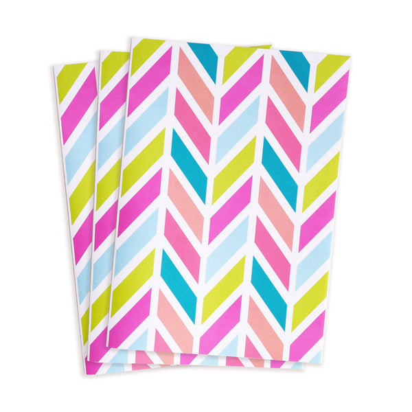 happy herringbone gift wrap sheets 3pk