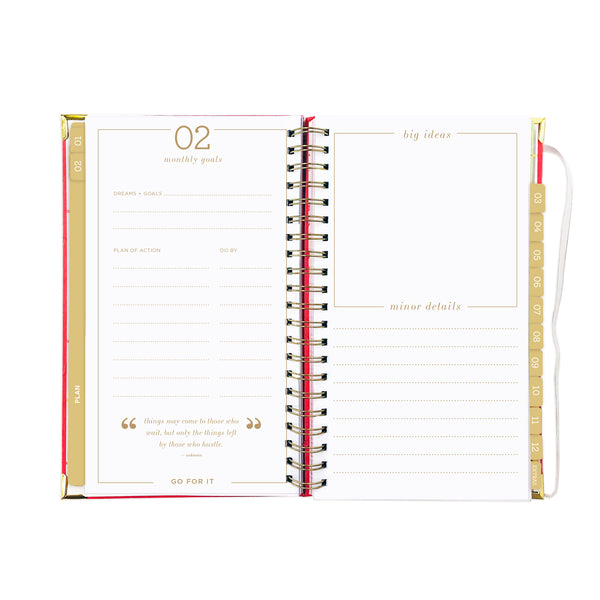 2019 SLIM CUTIE CORAL dream.plan.do. planner