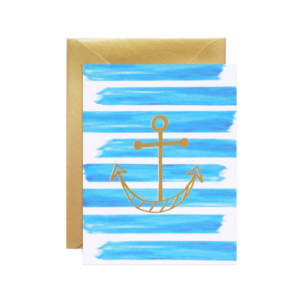 striped anchor notecards