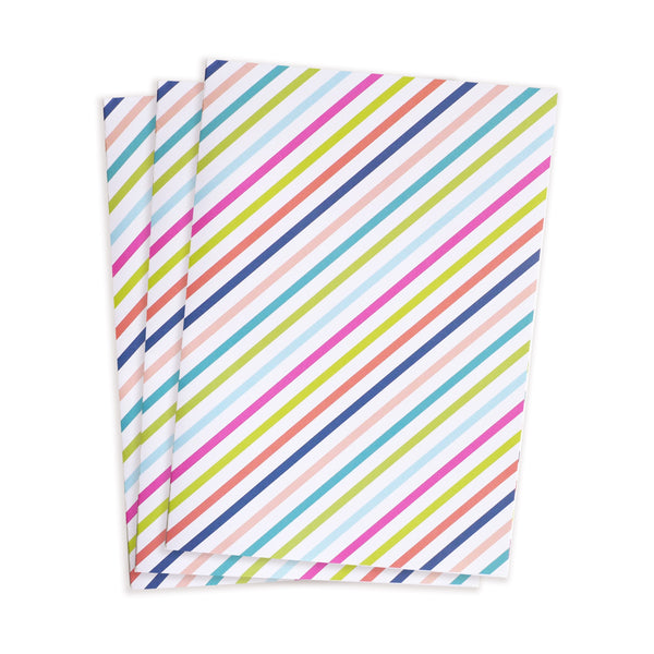 candy stripe gift wrap sheets 3pk