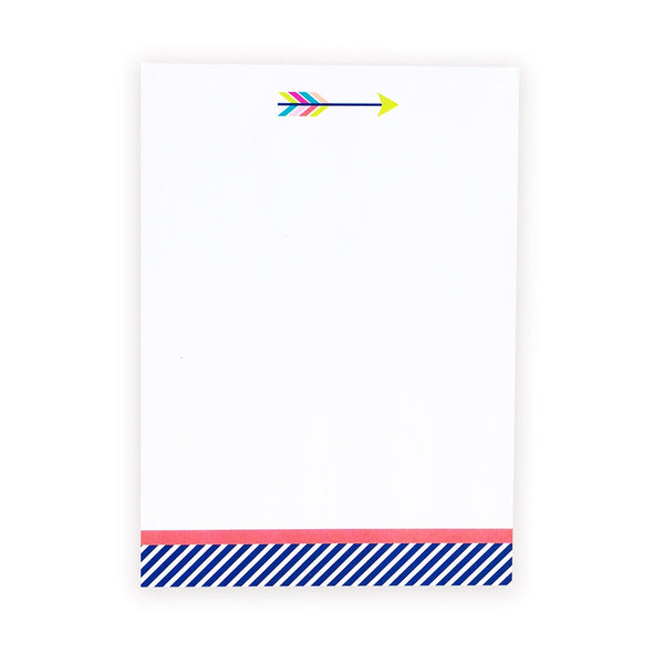 happy arrow chunky notepad