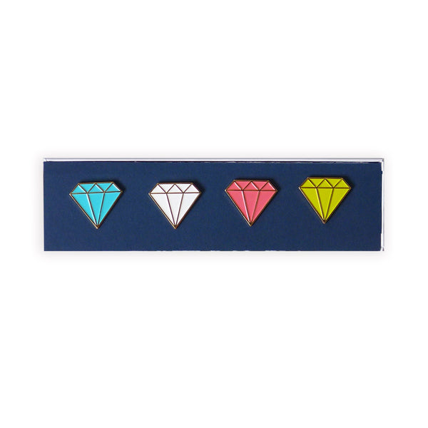 gem pushpins (set of 4)