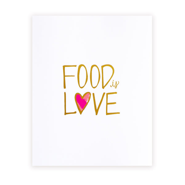 food is love art print