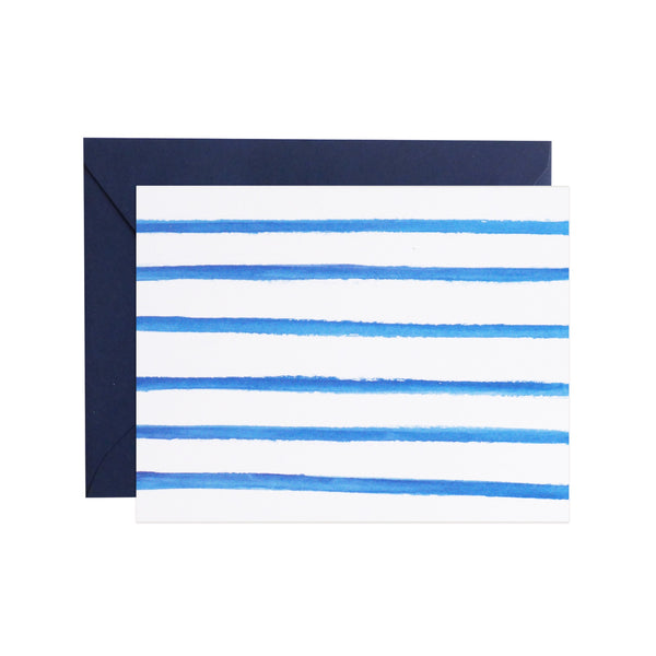 watercolor stripe notecards