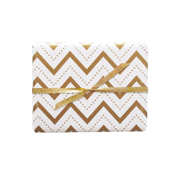chevron stitch gift wrap sheets 3pk