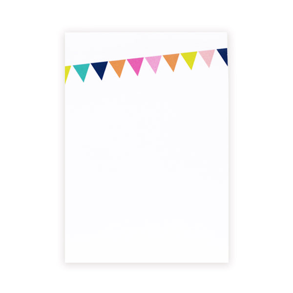 party pennants chunky notepad