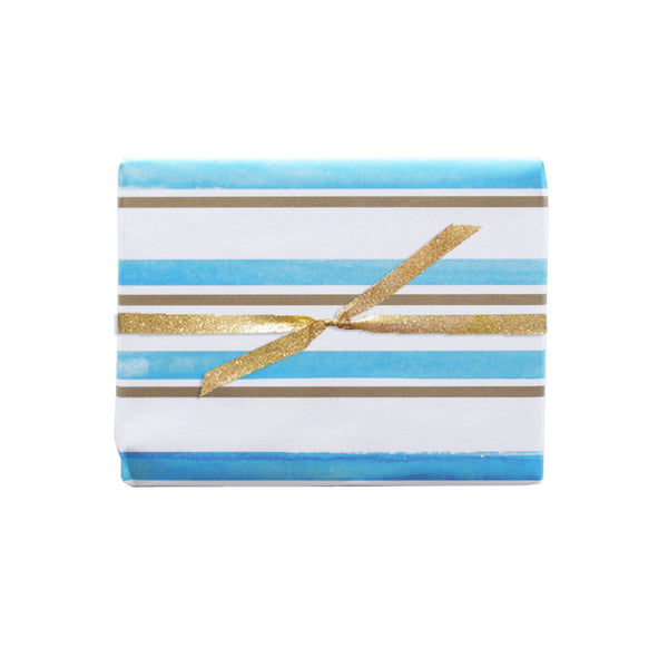 watercolor stripe gift wrap sheets 3pk