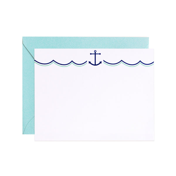 at sea flat notecards
