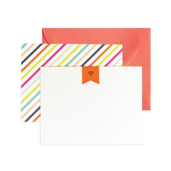 sweetheart flat notecards