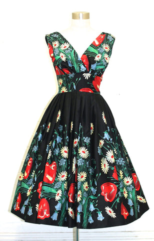 Vivian Field of Flower Swing Dress