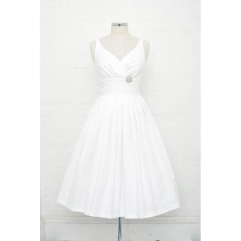 Elizabeth White Honeycomb Swing Dress - Vicious Venus