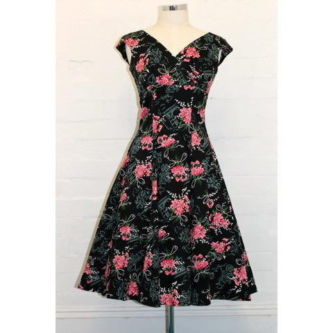 Empire French Bouquet Swing Dress - Vicious Venus