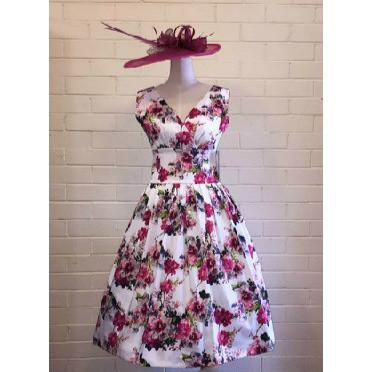 Grace Pink Floral Swing Dress - Vicious Venus