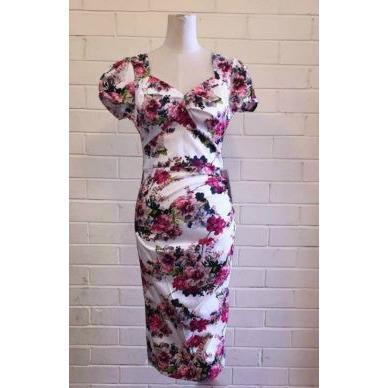 Raquel Floral Wiggle Dress - Vicious Venus