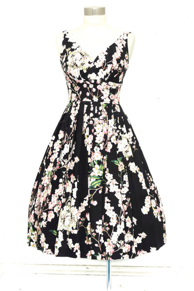 Elizabeth Peach Blossom Swing Dress
