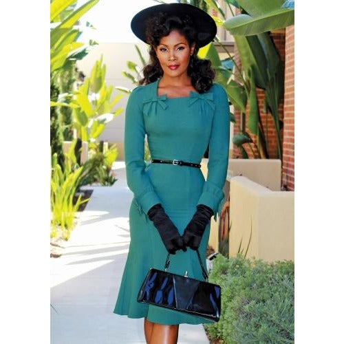 MICHELANA A-Dress IN FOREST GREEN