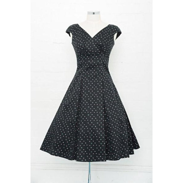 Empire Pink/Black Spot Swing Dress - Vicious Venus